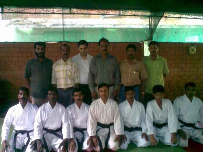 Black Belt students with Sensei Hakeem