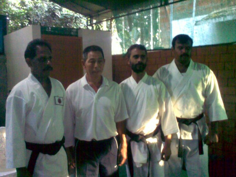 Sensei Hakeem [1st from left] with Shihan