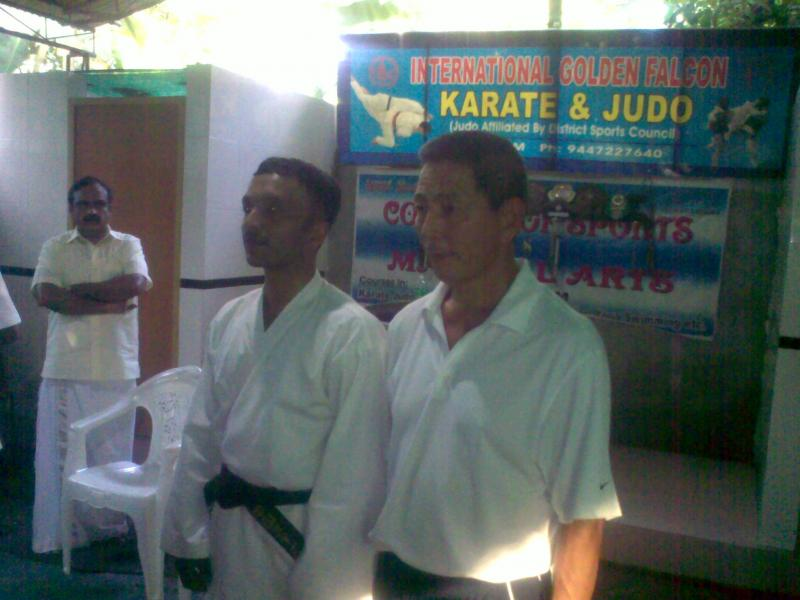 Shihan with a student