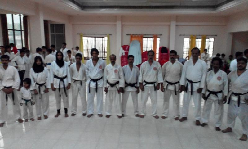 Karate students at UAE Red Belt studio