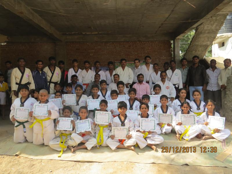 students certified by Dragon Fist Academy Hyderabad