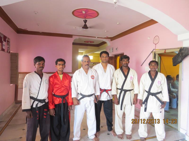 with the senior black belts