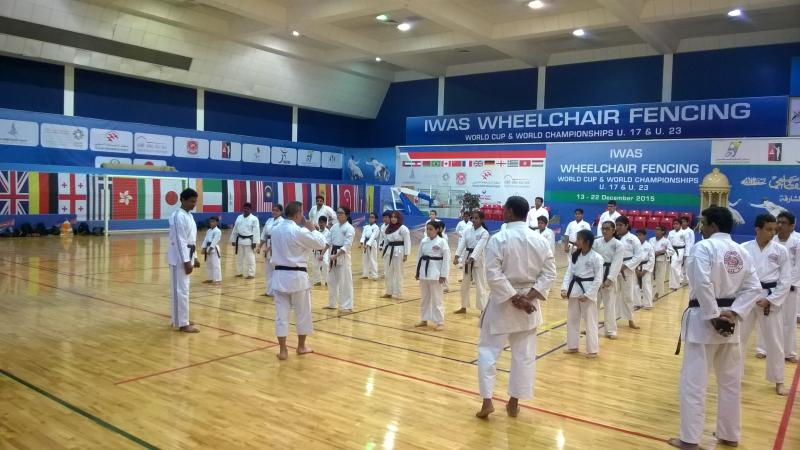 Karate camp in Dubai by Shihan Saito