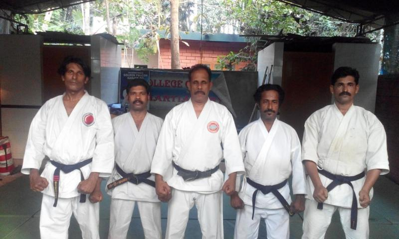 Black belts with Sensei Hakeem January 2015